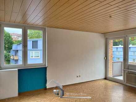 3-Zi-Wohnung mit großem Balkon, sehr geräumig und zentral in Pforzheim-Ost