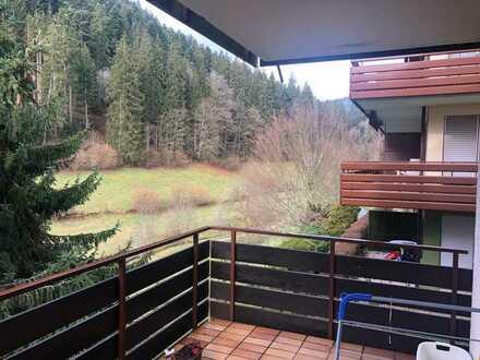 Gemütliche Wohnung mit Balkon und Blick ins Grüne