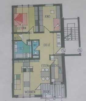 Drei Zimmer-Wohnung mit Balkon, Einbauküche und Bodenheizung in Vöhringen (Kreis Neu Ulm)