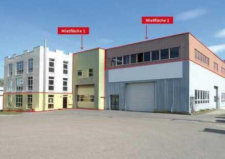 Produktions -/Lagerhalle mit Gewerbeinheit