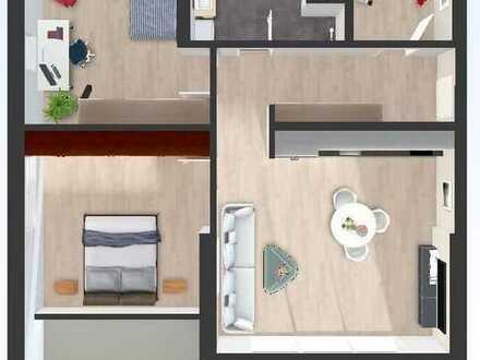 Dachgeschosswohnung mit schönem Westbalkon!