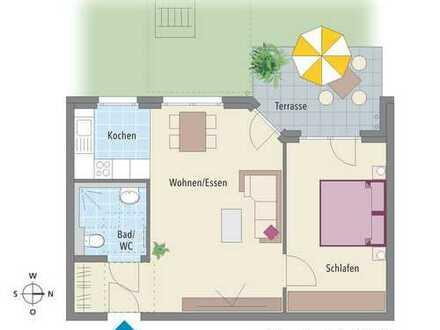 Für Singles und Pärchen. Perfekt geschnittene 2 Zimmer Wohnung in unmittelbarer S-Bahn Nähe.
