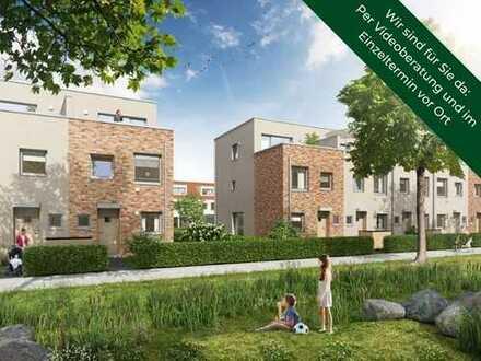 Für Sonne den ganzen Tag: Neubau Eckhaus mit großer Süd-Dachterrasse und moderner Ausstattung