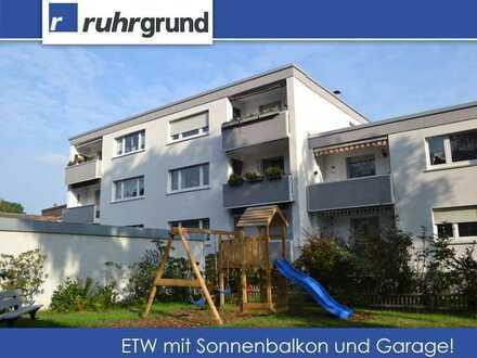 gepflegte Eigentumswohnung mit Sonnenbalkon und Garage!