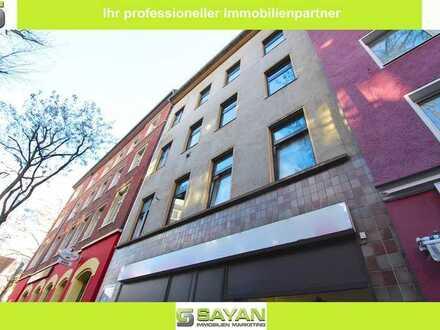 SAYAN Immobilien - Betongold in Düsseldorf-Bilk / Wohn-und Geschäftshaus mit Luft nach oben -