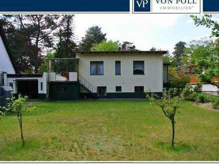 Bungalow mit wohnlichem Untergeschoss und Doppelgarage fast zum Grundstückspreis
