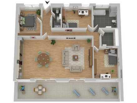 """TOP Neubau-Wohnung """"Am Musikerviertel"""" Penthouse mit Dachterrasse auf 160 m²"""