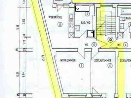 Einziehen und Wohlfühlen, sanierte u. renovierte 2-Zi.-Whg. mit Wohnküche, Balkon, EBK