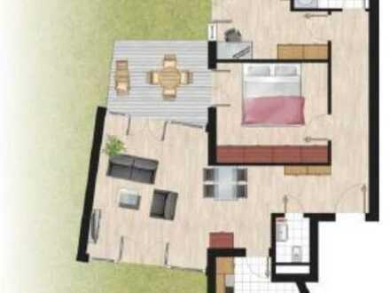 3-Zimmer Erdgeschosswohnung mit Garten und Terrasse sowie Einbauküche