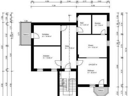Erstbezug nach Sanierung mit EBK und Balkon: 3,5-Zimmer-Wohnung in Wächtersbach - TOP Lage