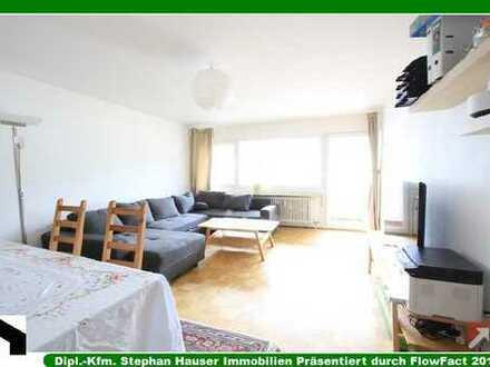 Absolut ruhige 4-Zi-Südwest-Wohnung mit großem Südwest-Balkon+Parkett+Wohnküche+EBK