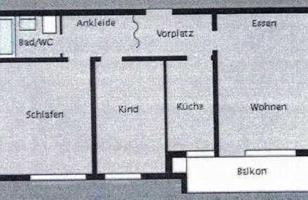 Möbliertes 12qm Zimmer mit Blick ins Grüne - 550€ Warmmiete