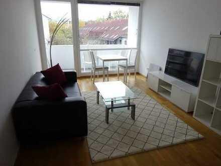 Neuwertige möblierte 3-Zimmer-Wohnung mit Balkon und EBK in Milbertshofen, München