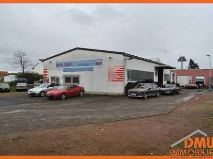 Autowerkstatt oder Halle mit Bürofläche und Außenbereich