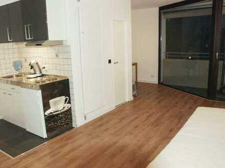 Gepflegte 1-Zimmer-Wohnung mit Balkon und Einbauküche in Homburg