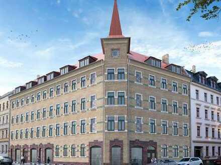 Erstbezug nach Sanierung: ansprechende 5-Zimmer-DG-Wohnung mit 2 Balkonen in Leipzig, Lindenau