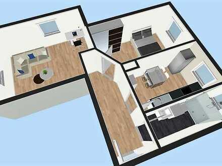 Helle 2-Zimmer-Wohnung mit Einbauküche in der Sanderau