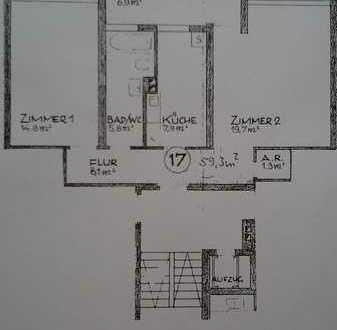 Helle 2-Zimmer Wohnung im Herzen von Durlach