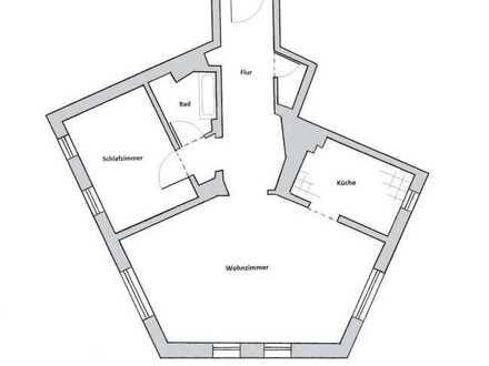 Stilvolle 2-Raum-Wohnung mit großflächigem Wohnzimmer