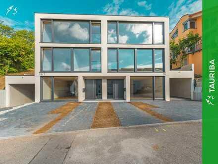 +++Erstbezug: Luxuriöse Doppelhaushälfte links mit Weitblick und Einliegerwohnung+++