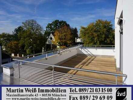 Moderner Neubau: 4-Zimmer-Premium-Dachterrassen-Wohnung in Harlaching