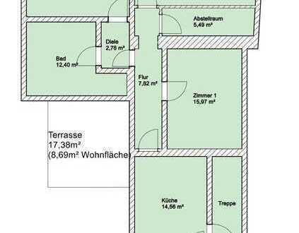 3 Zimmer Wohnung mit 128m2