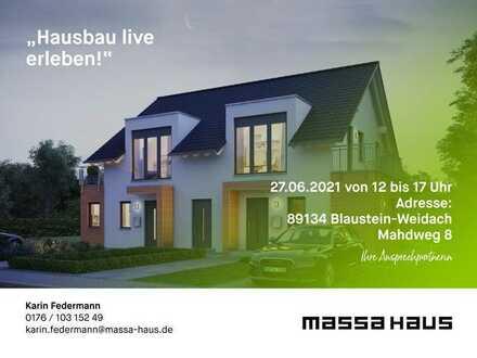 Baustellenbesichtigung am 27.06.21 in Blaustein Weidach 12-17 Uhr * massa haus *