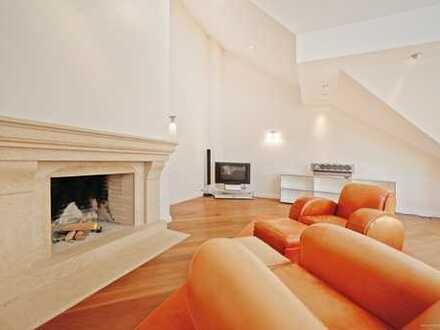 Traumwohnung der Superlative! 4-Zimmer-Luxuswohnung, 2 Bäder, Kamin, EBK, 3 Balkone, 2 TG-Plätze