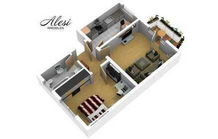 leerstehende 2-Zimmer Wohnung in gepflegter Wohnanlage