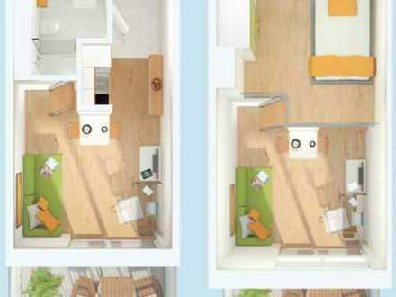 1,5-Zimmer Galeriewohnung im Studiosus 3, möbeliert, befristet bis Oktober