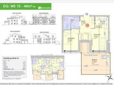 44m² 2ZKB Dachgeschosswohnung Ingolstadt/Süd - Provisionsfrei! (WE 10)