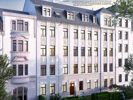 *Luxus im sanierten Denkmal - 3-Raum-WE mit Süd-West-Balkon, Stuck, Fliesen, Parkett, Lift uvm.*