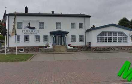 + Maklerhaus Stegemann + Pension/Restaurant mit Ferienhaus und Wasserblick in Stahlbrode