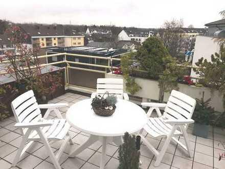 Hilden: Gemütliche 3 Raum Wohnung mit großem Dachbalkon in sehr gepflegter Wohnanlage
