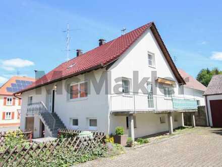 Familientraum mit Gestaltungspotenzial! 6-Zi.-EFH mit großem Balkon und Garage in naturnaher Lage