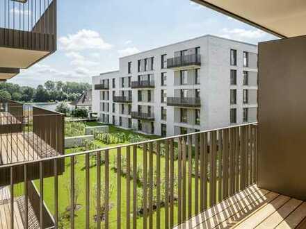 Moderner Grundriss: 3-Zimmer-Wohnung mit schöner Loggia, zentral und umgeben von viel Grün!