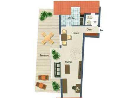 Modernisierte 2,5-Zimmer-Penthouse/Maisonette-Wohnung mit Balkon in Bühl