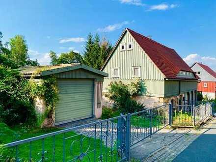 gemütliches Ferienhaus im Kurort Jonsdorf - wunderschönes großes Grundstück