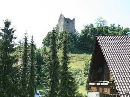 Wangen-Neuravensburg – Gemütliche 2,5-Zi.-Whg mit Sicht auf die Burg...