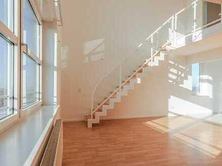 Hoch in den HIMMEL erhebt sich diese LICHTDURCHFLUTETE Maisonette-Wohnung im 20. OG