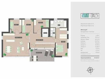 Schicke 5-ZImmer-Wohnung mit Westdachterrasse