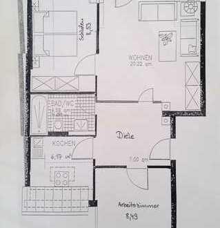 Schöne drei Zimmer Wohnung mit Südbalkon in Affing-Mühlhausen