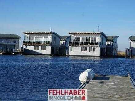 Floating House / schwimmendes Haus in Kröslin zwischen Greifswald und Insel Usedom (DTV 4-Sterne)