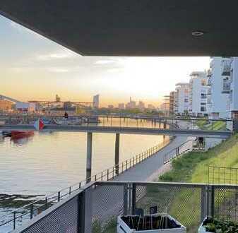 Schöne, geräumige drei Zimmer Wohnung in Offenbach am Main, Hafen- Skyline-Blick!