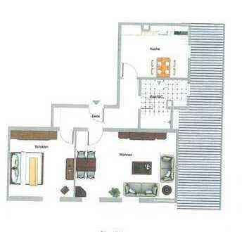 2-Zimmer-Wohnung ca. 7 km östlich von Memmingen