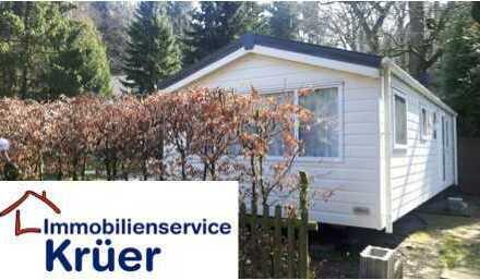 Neues Mobilheim auf naturnahem Campingplatz zu verkaufen