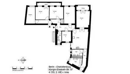 Altbaucharme mit großer Wohnküche und drei Bädern in Charlottenburg