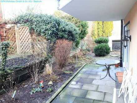 Vermietete Wohnung mit Garten und Garage in einer ruhigen Innenstadtlage von Beckum!