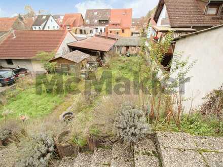 Verkehrsgünstig in Baiertal: Grundstück mit Abrissbestand in Wiesloch - nahe Heidelberg