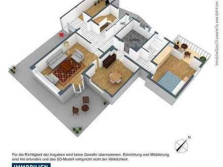 4 Zi.-Wohnung mit Terrasse, Balkon und eigenem Garten
